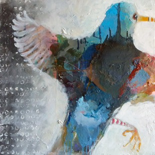 Away with birds 60x60 cm