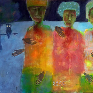 watchers of nightbirds. 141x109 cm